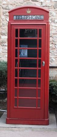 Classic red British telephone box  photo