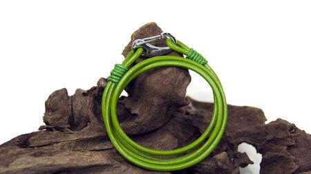 collet: green  bracelet Stock Photo