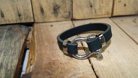 wristband: black leather  men bracelet ,wristband over board