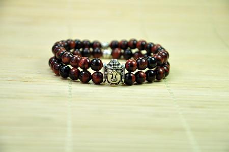 cabeza de buda: Las perlas de pulsera con la figura de la cabeza de Buda