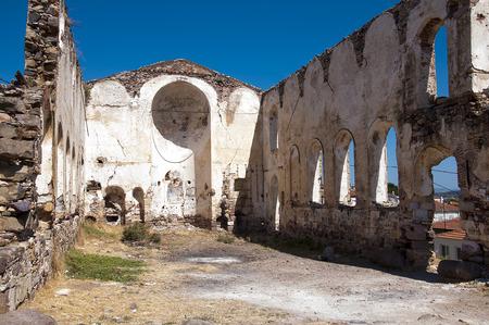 church ruins: Cunda island church ruins