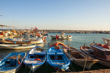 turkey day: Boats waiting in the harbor