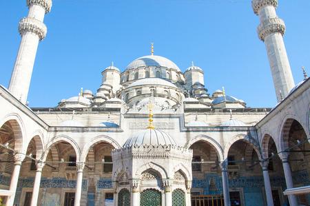cami: The new Mosque Yeni cami, Eminonu district, Istanbul, Turkey. Stock Photo