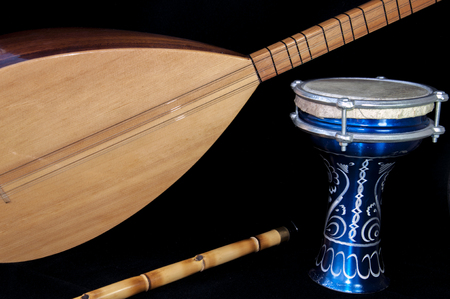 southeast asian ethnicity: Turkish Folk Instrumants concept