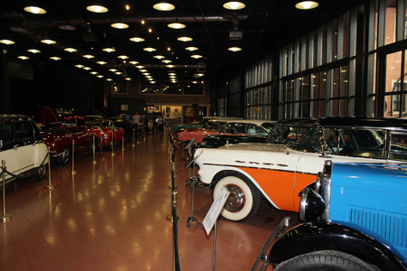 Classic cars in the museum Editorial