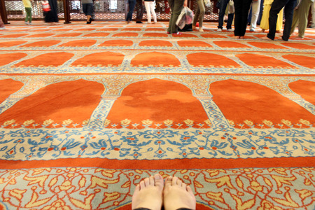 fatih: Suleymaniye Mosque interior, Fatih District of Istanbul. Turkey