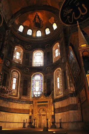 sophia: Interior Hagia Sophia, Istanbul, Turkey Editorial