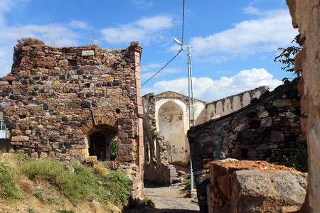 church ruins: C island church ruins, Balikesir, Turkey