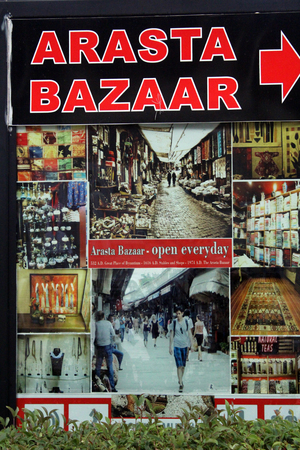 english ethnicity: Istanbul, Turkey - September 23, 2015 Arasta Bazaar complex adjacent to the Blue Mosque in the Sultanahmet District, Istanbul. Between the base was built at the same time as the Blue Mosque and functioned as a market area, the Rents of which went towards  Editorial