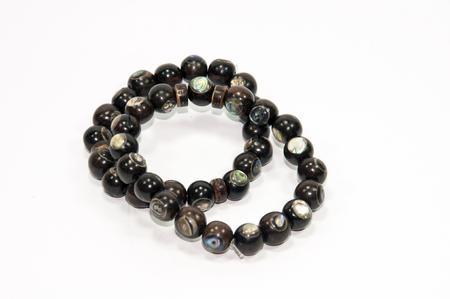 wrist strap: Wooden handmade men bracelet Stock Photo