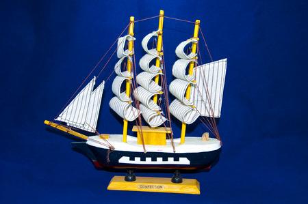 knack: sailboat isolated on white