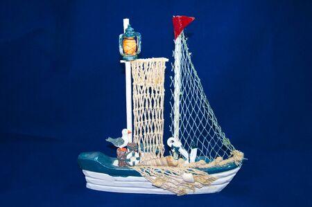 knack: sailboat isolated on white background