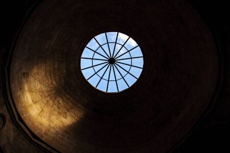 enlarged: Enlarged skylight in the museum, the city of Kutahya, Turkey