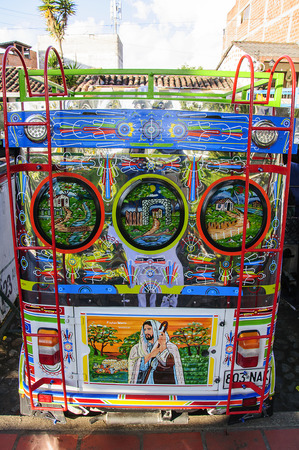 antioquia: Guatape, COLOMBIA - DECEMBER 14, 2016: Colorful mototaxi (tuk tuk) in village Guatape, Colombia Editorial