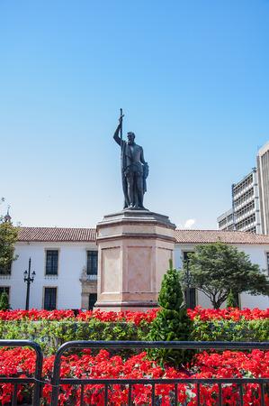 Statue of Gonzalo Jim?nez de Qusair in Bogota, Colombia