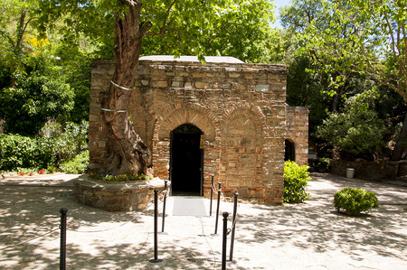 The House of the Virgin Mary (Meryemana), believed to be the last residence of Mary, mother of Jesus. Ephesus, Turkey Stock Photo