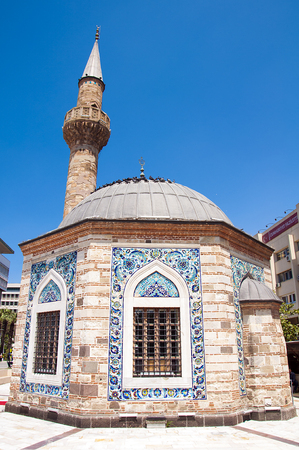 Konak Mosque also known as Yal? Mosque. It was built in 1755 it is located in the Konak Square. Izmir. Turkey.