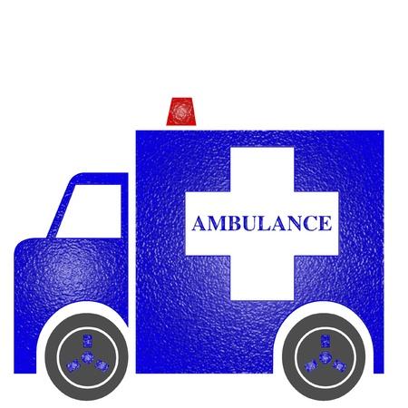 Blue ambulance icon
