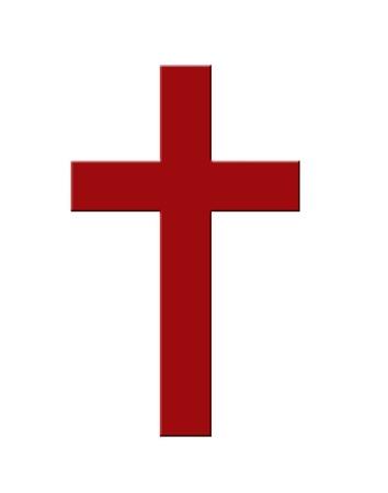 cruz cristiana: Icono de la cruz cristiana Foto de archivo