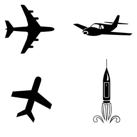 jetliner: Air travel icons Stock Photo
