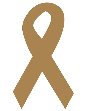 Anti tobacco awareness ribbon icon photo