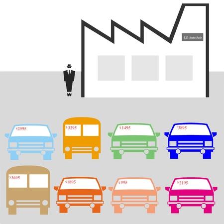 salesperson: Car salesman illustration Stock Photo