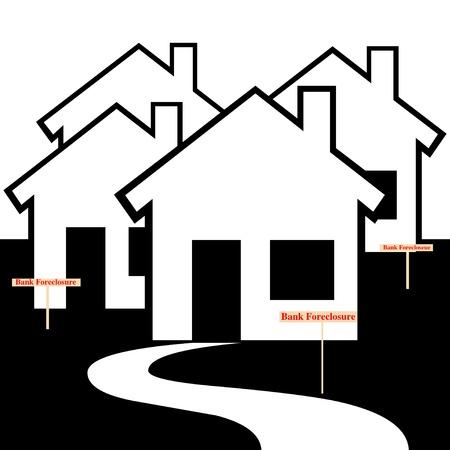 Bank foreclosure illustration