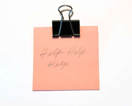 Help note and binder clip