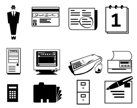 communication icons: Business icons