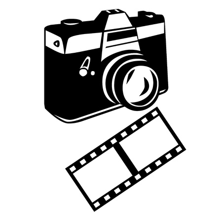 camera film: Camera and film icons Stock Photo