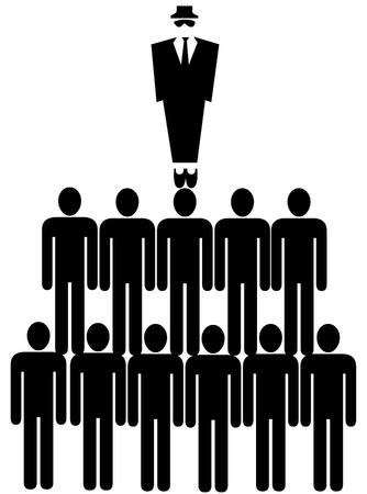 Chain of command illustration Imagens