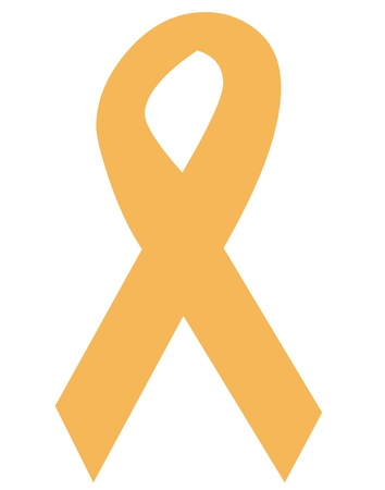 Childhood cancer awareness ribbon icon