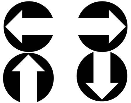 circled: Circled iconos de las flechas