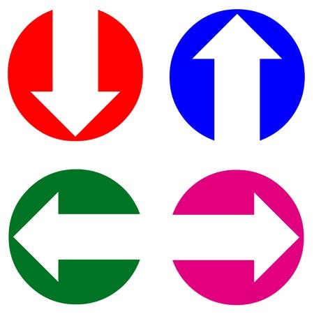 Colored arrow icons Stock Photo