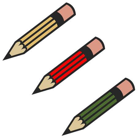 色鉛筆のアイコン 写真素材
