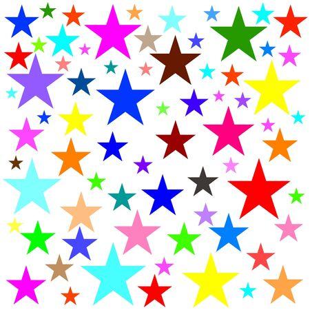 Colored star background 版權商用圖片
