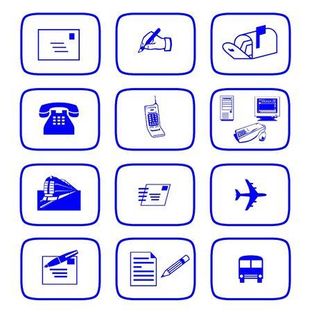 Communication icons Imagens