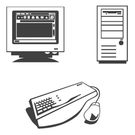 Computer iconen Stockfoto
