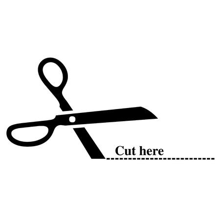 Cut here illustration Stock Illustration - 11731532