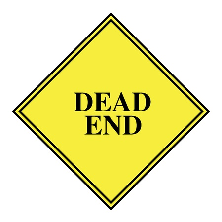 dead end: Dead end sign icon Stock Photo
