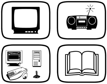 Entertainment pictogrammen