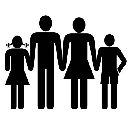 family isolated: family icon