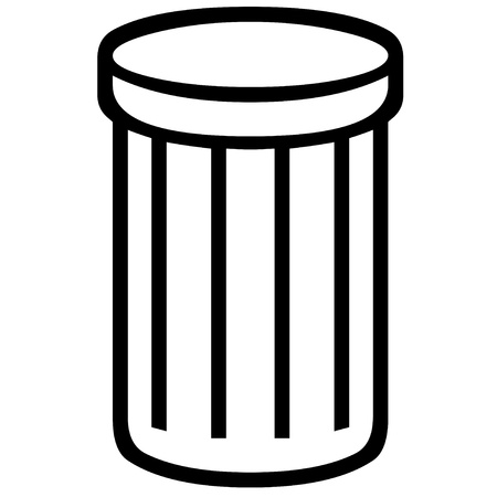 refuse: Garbage can icon