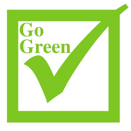 Go green illustration