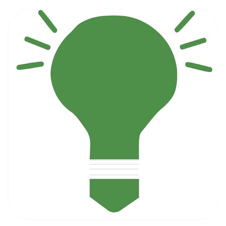Go green light bulb illustration illustration