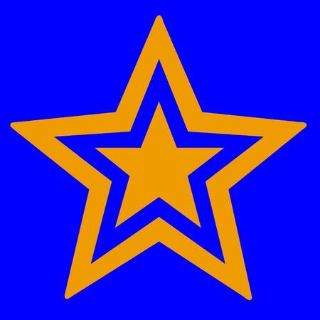 etoile or: ?toile d'or sur fond bleu