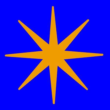etoile or: �toile d'or sur fond bleu