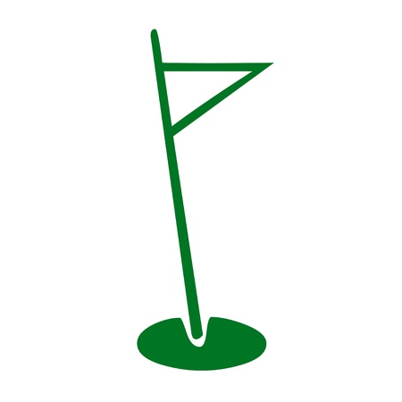 Golf pole and flag icon Stock Photo
