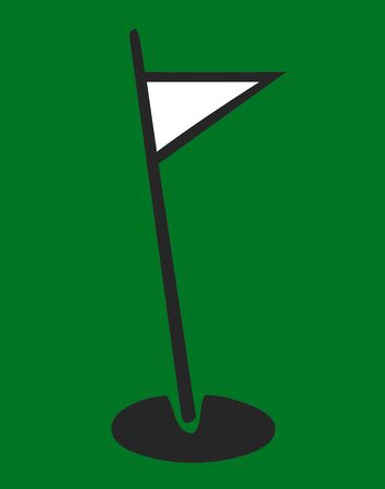 Golf pole and green illustration