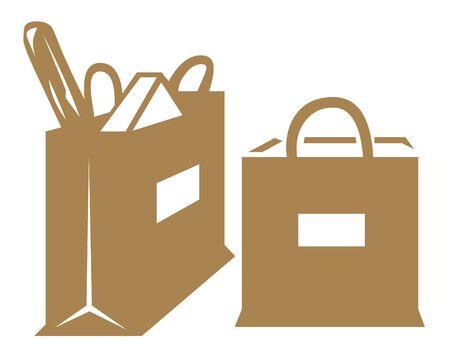 Grocery bags illustration illustration